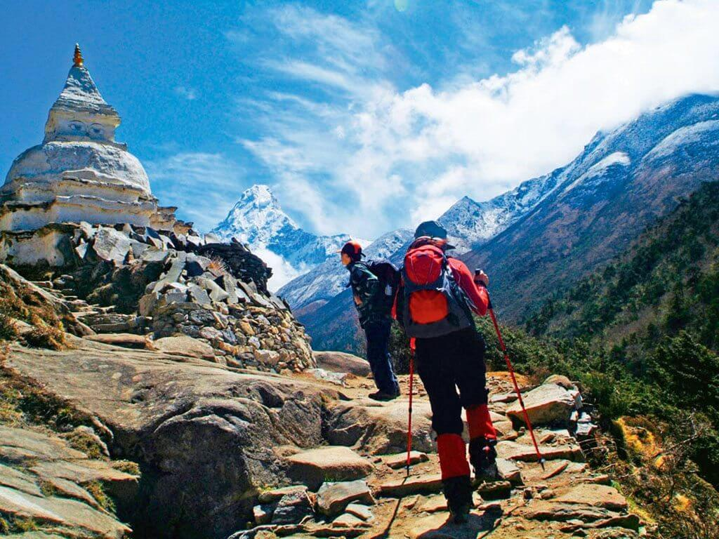 Stupa budista en Everest trek