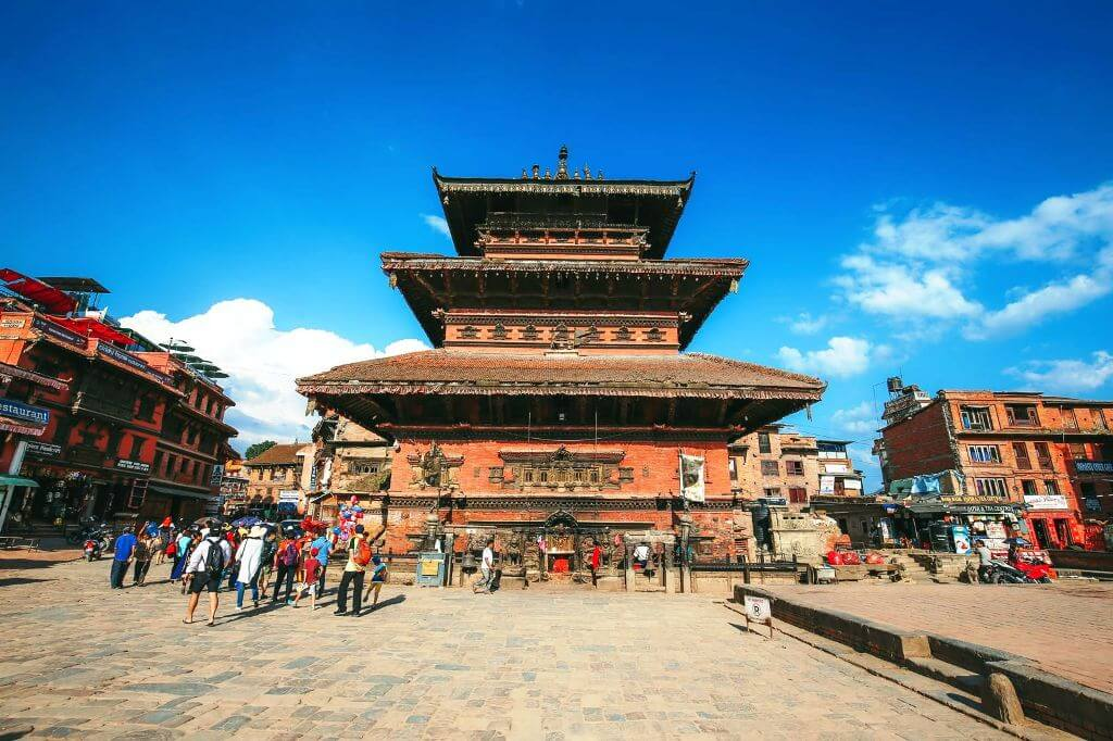 Kathmandu historical temples in the Durbar Square,